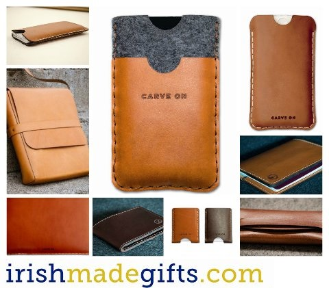 Leather Iphone, Ipad and Laptop bags