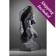 Our Troubles and Worries - Male Limestone Sculpture