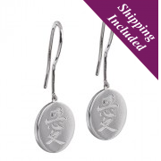 Silver Delicate Earrings - Love