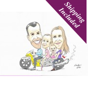 A3 Caricature portraits- Detailed & Coloured