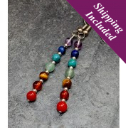 Chakra Balancing Earrings with Crystals & Sterling Silver Beads