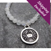 Cancer Moonstone Crystal Necklace with Zodiac Pendant