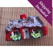 Irish Christmas Cottage Decoration with Flowers
