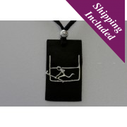 Silver Hurler Pendant With Goalpost