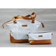 "Mamukko – ""Golden Tote 3406 1⁄2"" Leather Handbag"