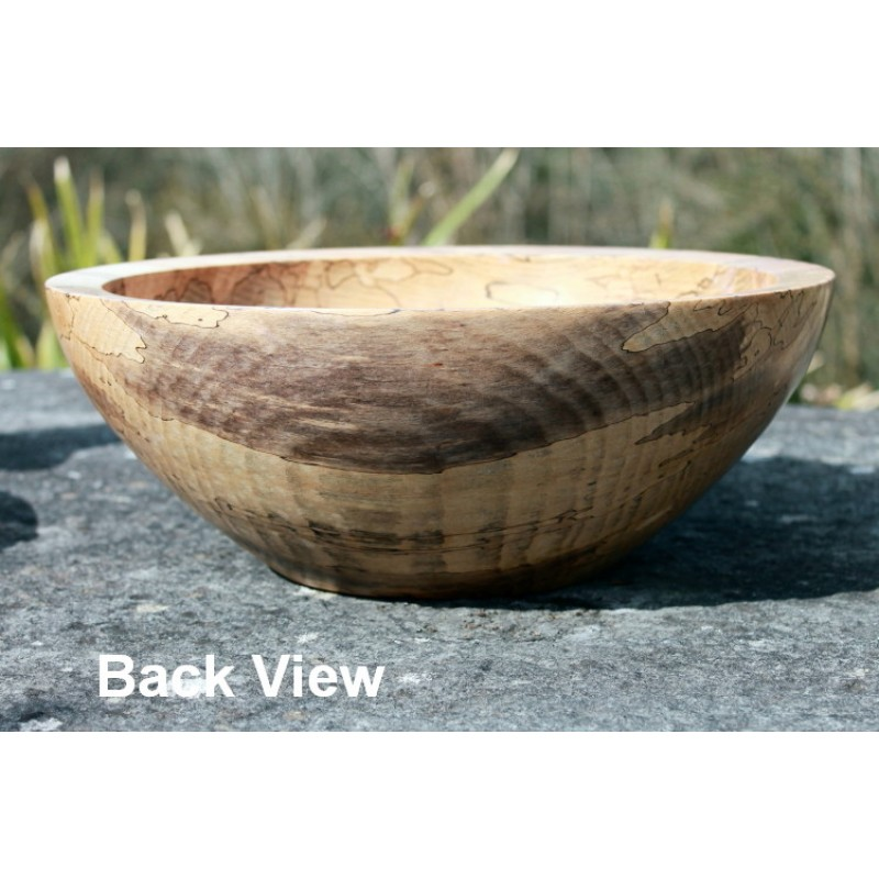 large wooden bowlspalted beech
