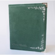 Green Silver Suede iPad Tablet Cover