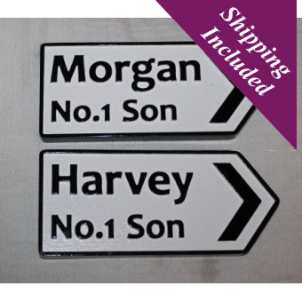 Personalised Irish Road Signs- First Names
