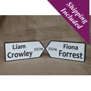 Personalised Irish Road Signs-Weddings