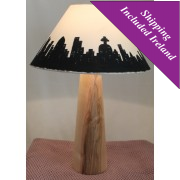 Large Wooden Table Lamp - Ash