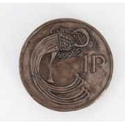 'Irish Penney Coin'  Bronze Wall Hanging