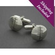 Sterling Silver Cufflinks - Ogham 'Grá'
