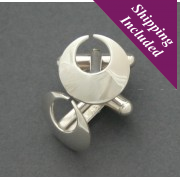 Sterling Silver Torc Cufflinks     ** Award Winning Design**
