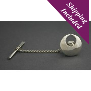 Sterling Silver Torc Tie Pin