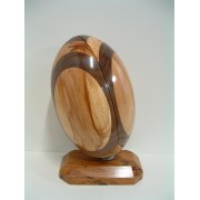 Handmade Wooden Sports Trophy (Rugby) 2