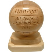 Handmade Wooden Sports Trophy (Gaelic Football)