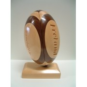 Handmade Wooden Sports Trophy (Rugby)