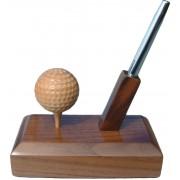 Handmade Wooden Sports Trophy (Golf Ball Pen Holder)