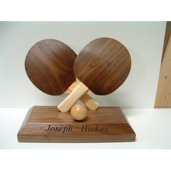 Handmade Wooden Sports Trophy Table Tennis