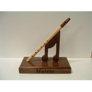 Handmade Wooden Music Trophy (Tin Whistle)