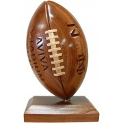 Handmade Wooden Sports Trophy (American Football)