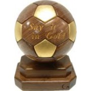 Handmade Wooden Sports Trophy (Soccer, Football) 4