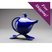 "Handmade Ceramic ""Funky"" Teapot - Blue Sea"