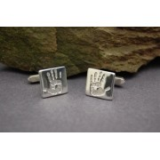 Silver Cufflinks with Prints