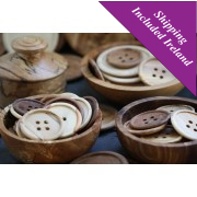 Large Wooden Buttons (Various Woods/Sizes)