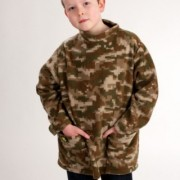 Camouflage Roll Collar Top
