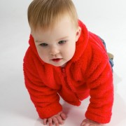 Fluffy Muffy Red Baby Jacket