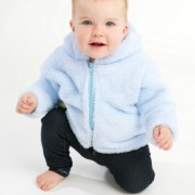 Fluffy Muffy Blue Baby Jacket