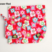 Red Flowers Baby Blanket