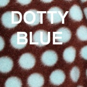 Dotty Blue Baby Blanket