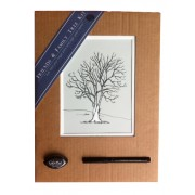 Friends & Family Tree- Takes 15 Fingerprints - Irish Ash- Small Mounted Print
