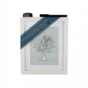 Friends & Family Tree- Takes 15 Fingerprints - Irish Ash- Small Framed Print