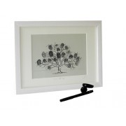 Friends & Family Tree- Takes 15 Fingerprints - Irish Oak- Small Framed Print