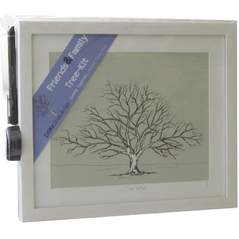 Friends & Family Tree- Takes 30 Fingerprints - Irish Oak- Large ...
