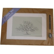 Friends & Family Tree- Takes 30 Fingerprints - Irish Oak- Large-Mounted Print
